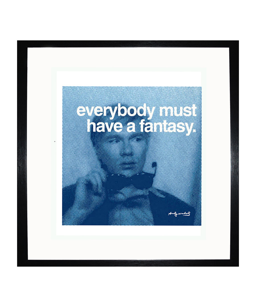 Fantasy quote framed print 40 x 40 cm Sale - andy warhol