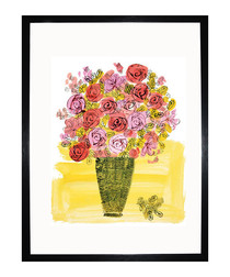 Basket Of Flowers 1958 framed print
