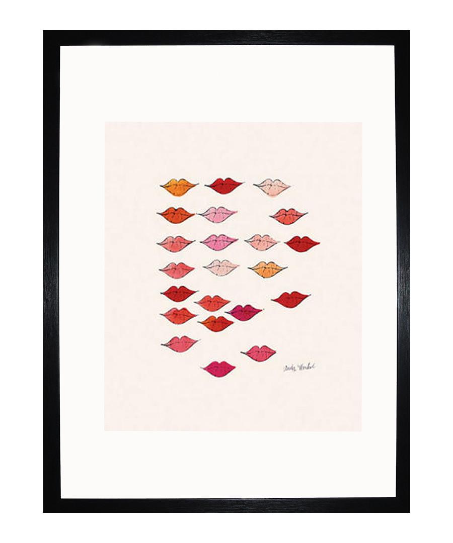 Stamped Lips 1959 framed print Sale - Andy Warhol