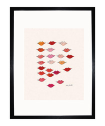 Stamped Lips 1959 framed print