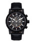 Conquête IP black leather watch Sale - andre belfort Sale