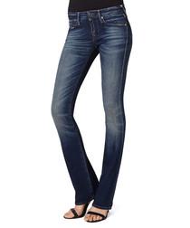 Gina indigo cotton blend bootcut jeans