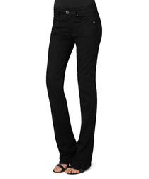 Gina black cotton blend bootcut jeans