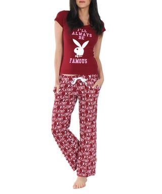 45b68ace64dd Always Be Famous wine cotton pyjamas Sale - Playboy Sale