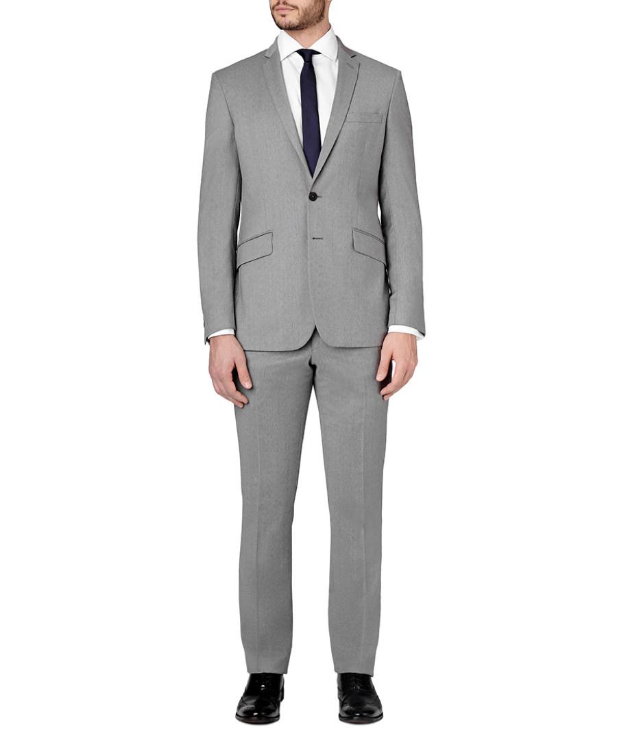 2pc light grey pure wool suit Sale - SPENCER HART