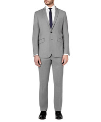 2pc light grey pure wool suit