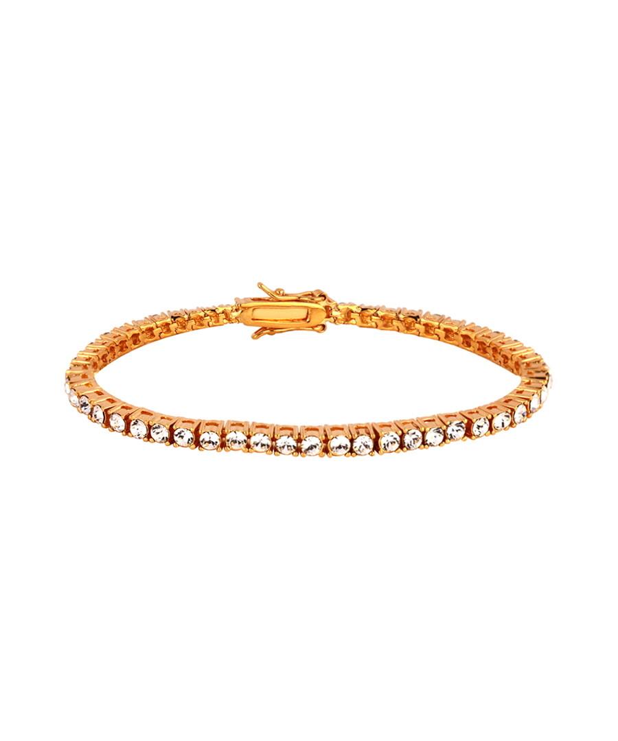 24k gold-plated crystal bracelet Sale - orcea