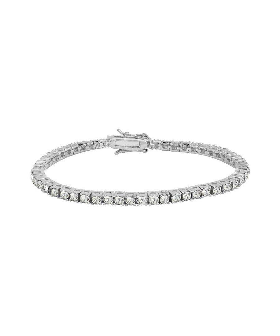Silver-tone crystal set bracelet Sale - orcea