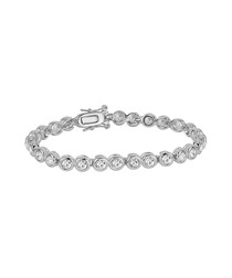 Silver-tone Swarovski tennis bracelet