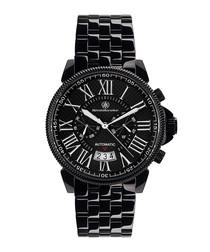 Classique Modern black steel watch