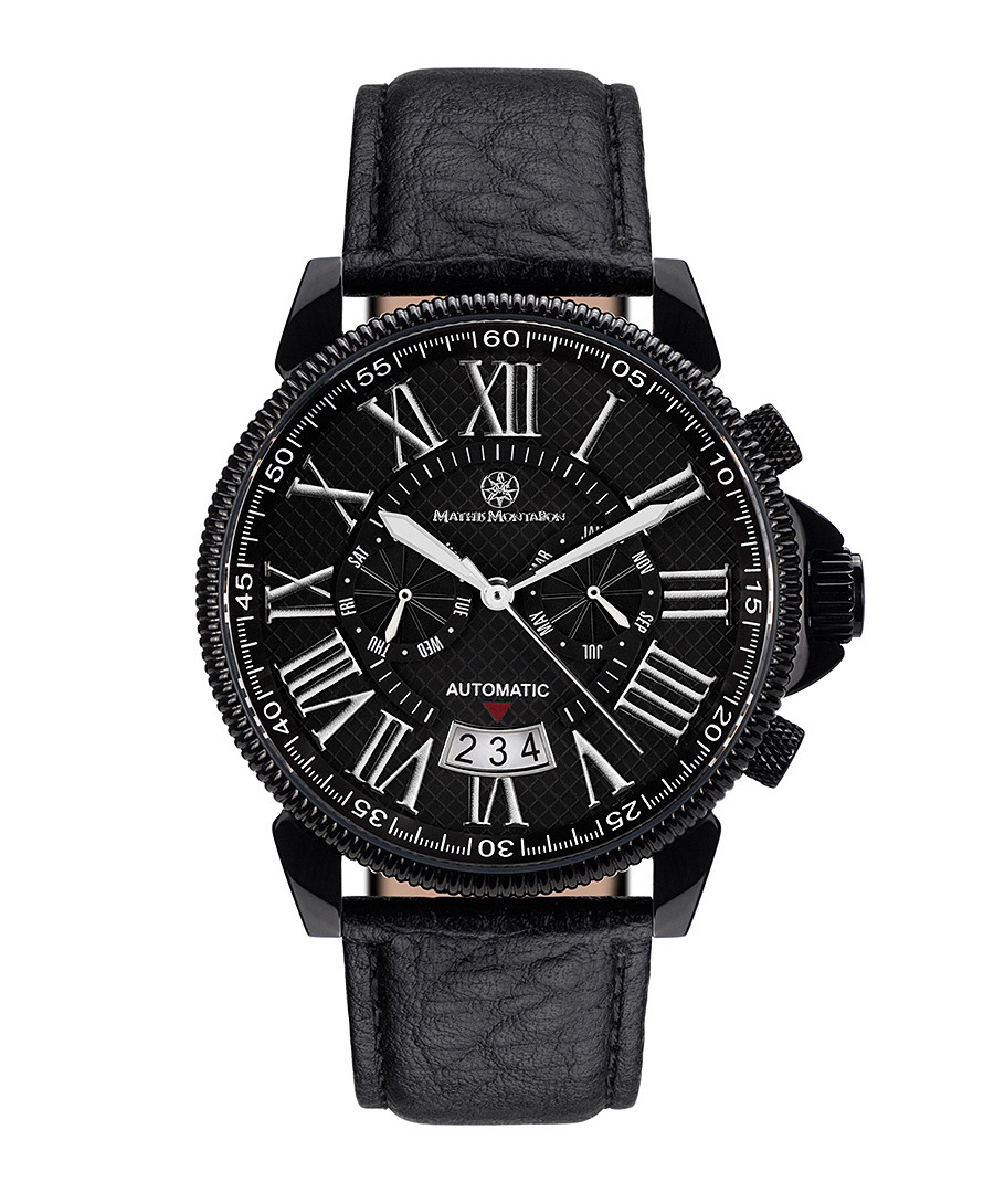 Classique Modern black leather watch Sale - mathis montabon