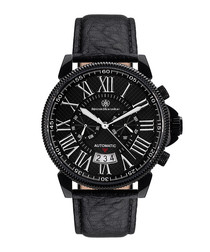Classique Modern black leather watch