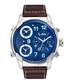 G4 steel, diamond & leather watch Sale - jbw Sale