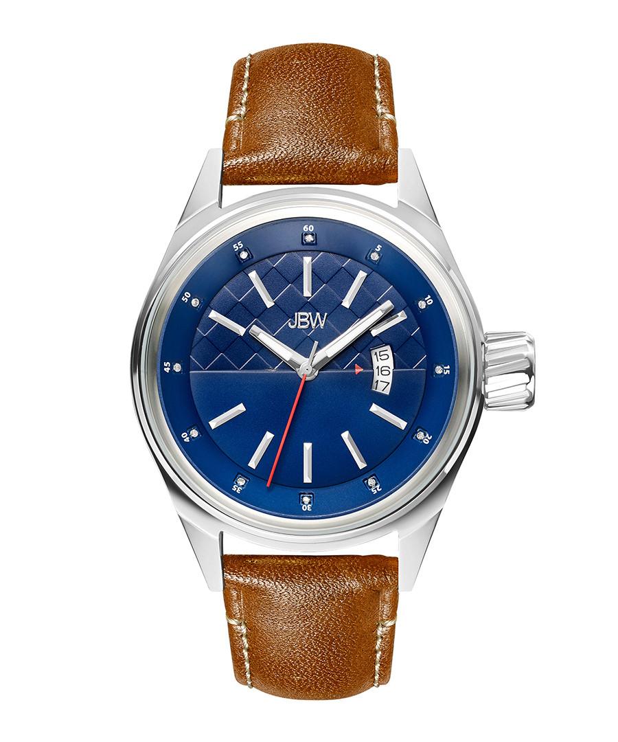Rook tan leather & diamond watch  Sale - jbw