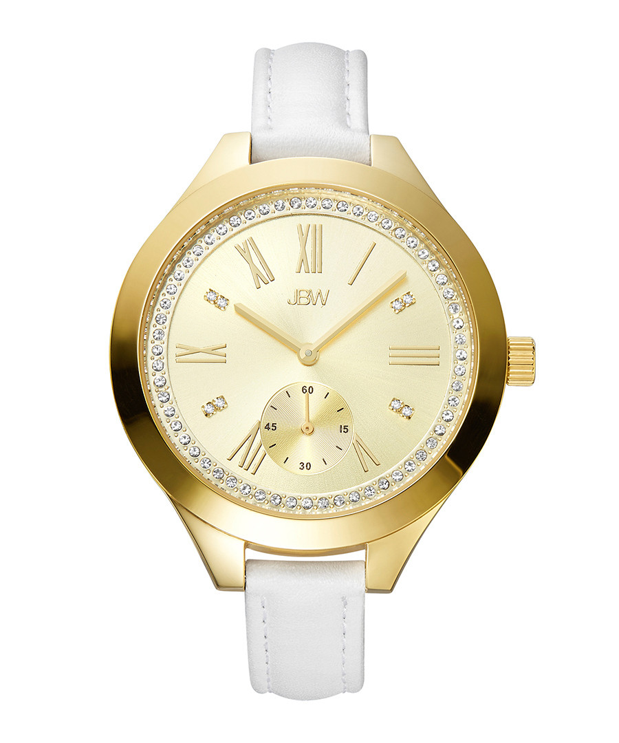 Aria 18ct gold-plated & diamond watch Sale - jbw