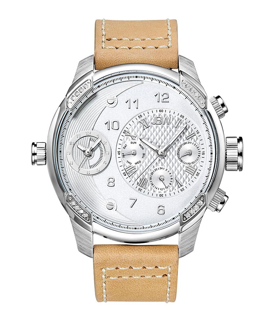 G3 tan leather & diamond watch Sale - jbw