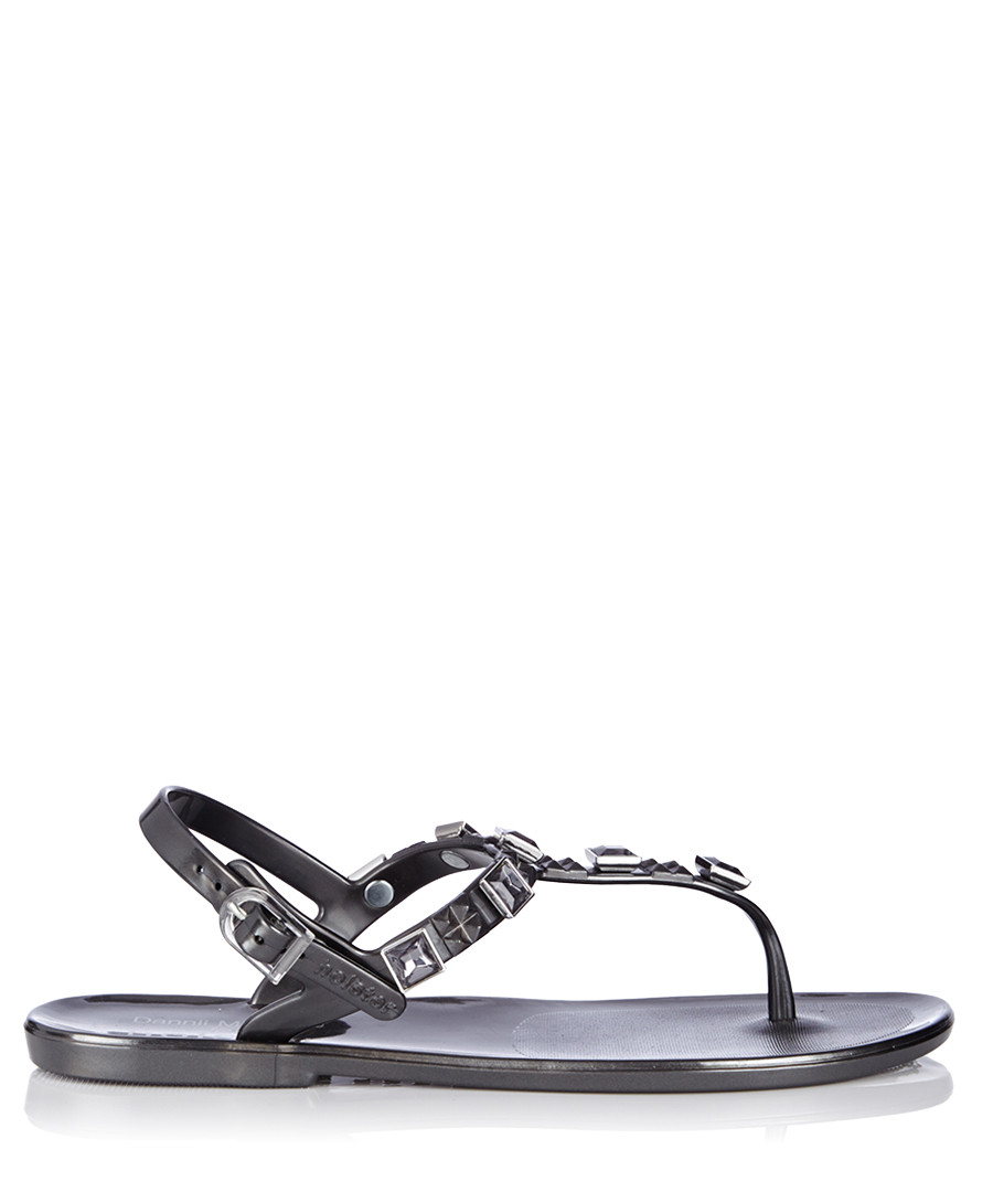 Rockstar Jelly graphite jewel sandals Sale - Holster