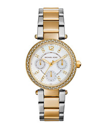 Mini Parker two-tone embellished watch