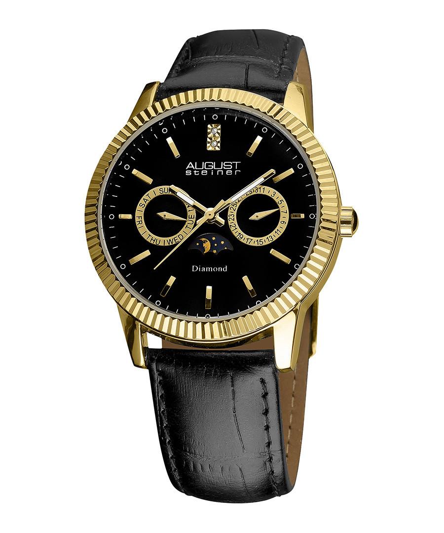 Gold-tone diamond bracelet watch Sale - august steiner