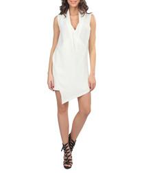 White asymmetric short dress