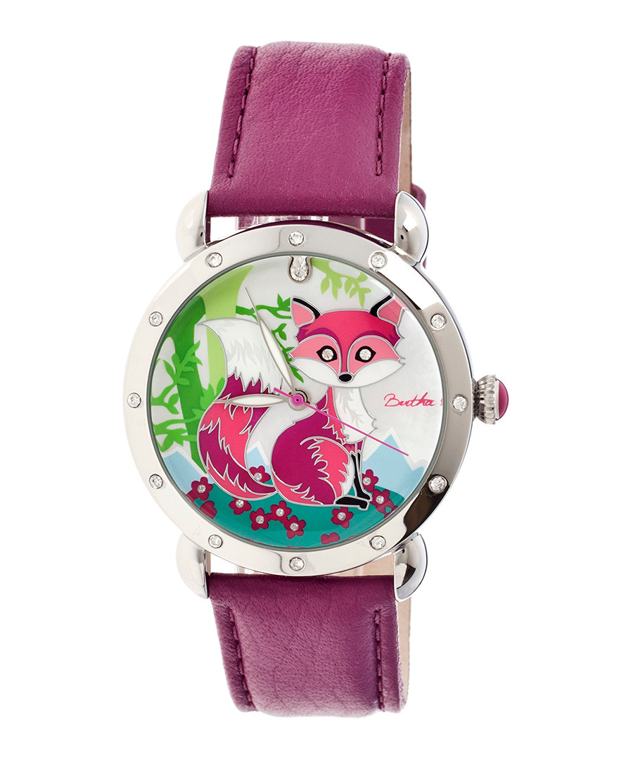 Vivica fuchsia leather fox watch Sale - bertha
