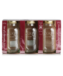 Image of 3pc glass preserve jars 1L