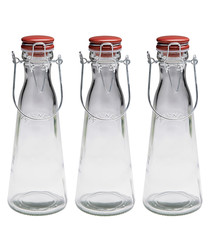 Image of 3pc glass bottles 1L