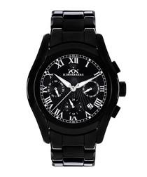 Overcast black ceramic watch
