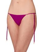 Fuchsia string bikini bottoms