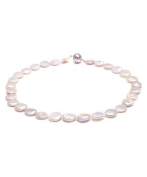 1cm white coin pearl necklace