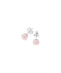 0.4cm pink freshwater pearl earrings
