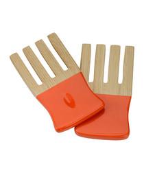 Kyoto orange bamboo salad forks