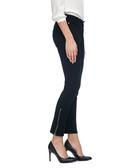 Black cotton blend zip ankle jeggings