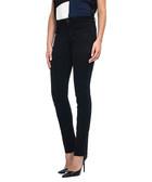 Samantha black cotton blend jeans