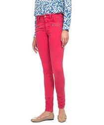 Hibiscus cotton blend skinny jeans