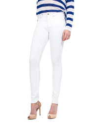 Optic white cotton blend jeggings