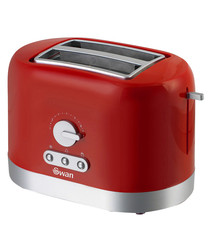 Image of Red two-slice toaster