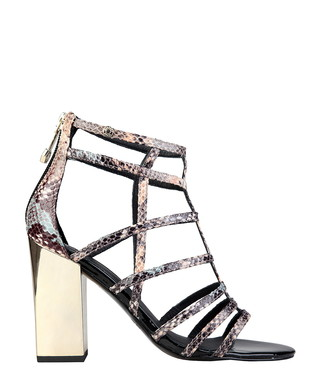 9f28e905c076 Snake-effect zip high heel sandals Sale - Versace Jeans Sale
