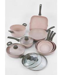 Image of 13pc grey aluminium pan set