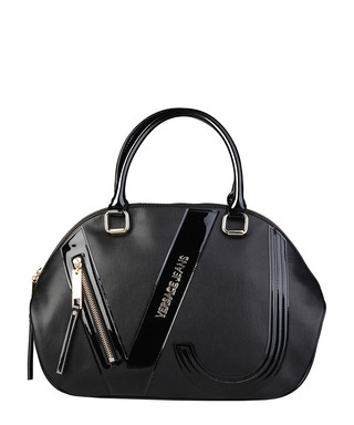 Black patent-effect panel grab bag Sale - Versace Jeans Sale a3098b3ab2aa0