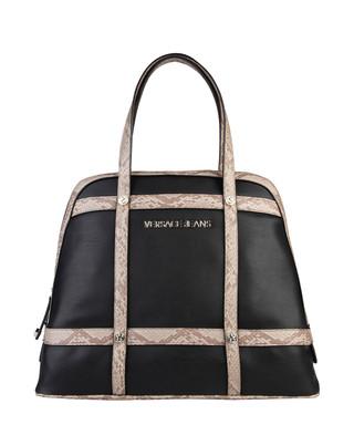 513c1d171d0e Black snake-effect trim tote Sale - Versace Jeans Sale