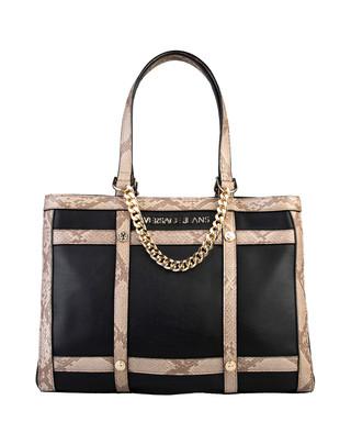 6f24dbd2cfa5 Black snake-effect trim shoulder bag Sale - Versace Jeans Sale