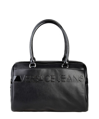 Black patent-effect logo shoulder bag Sale - Versace Jeans Sale 263f41c4a7fc4