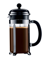 French press black 8-cup coffee maker