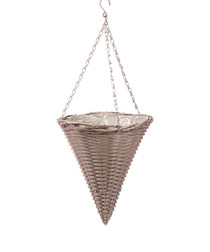 "Image of Grey 12"" cone hanging basket"