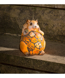 Image of Brown solar powered squirrel light