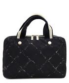 Black & white waterproof handbag