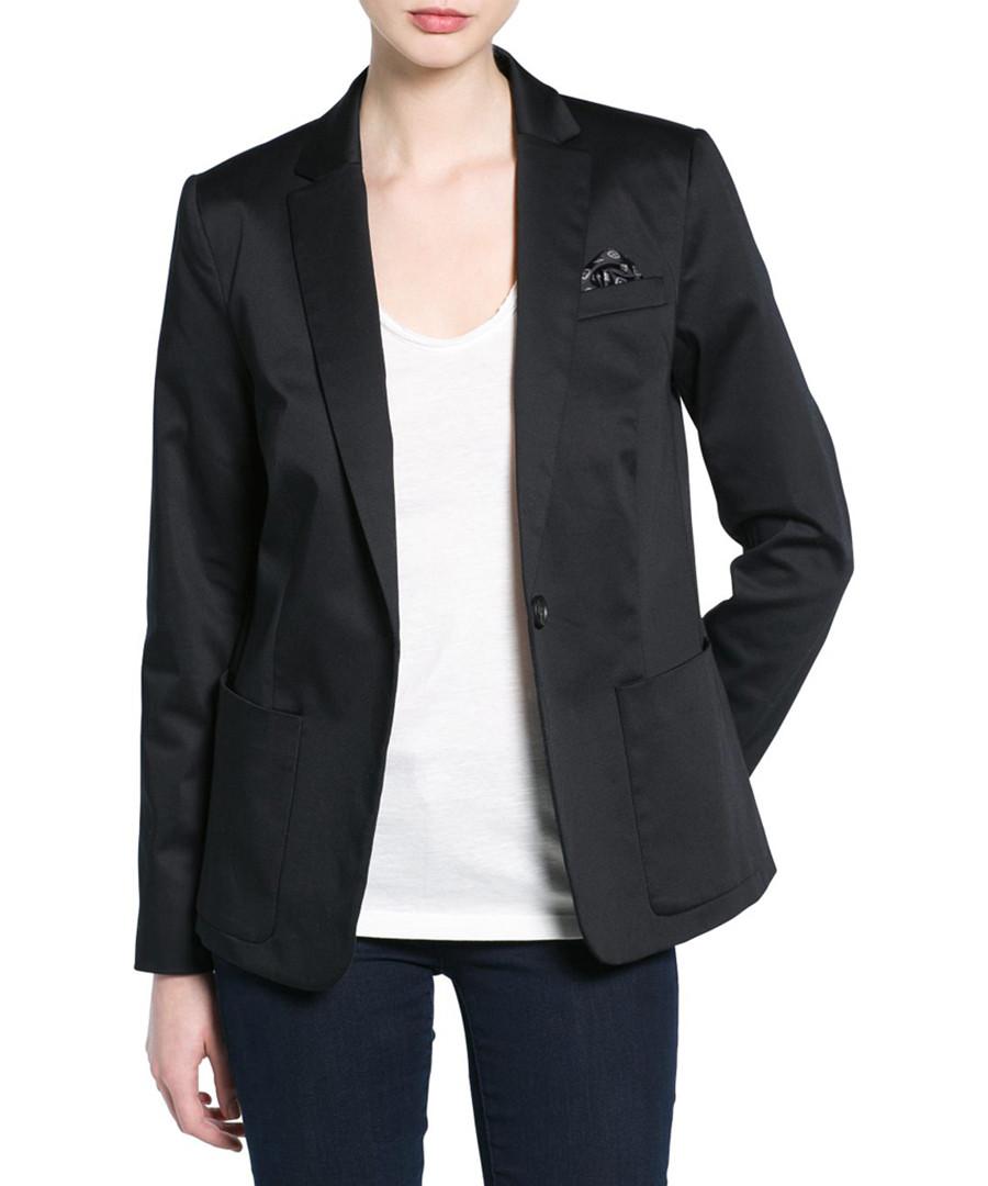 Pekin black cotton blend blazer Sale - Mango