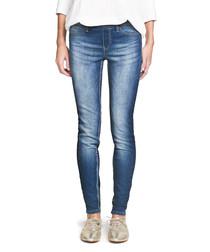 Piti blue cotton blend jeans