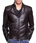 Men's Chicco waxy brown leather jacket